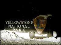 dec 22 - yellowstone national park sign, west yellowstone, montana